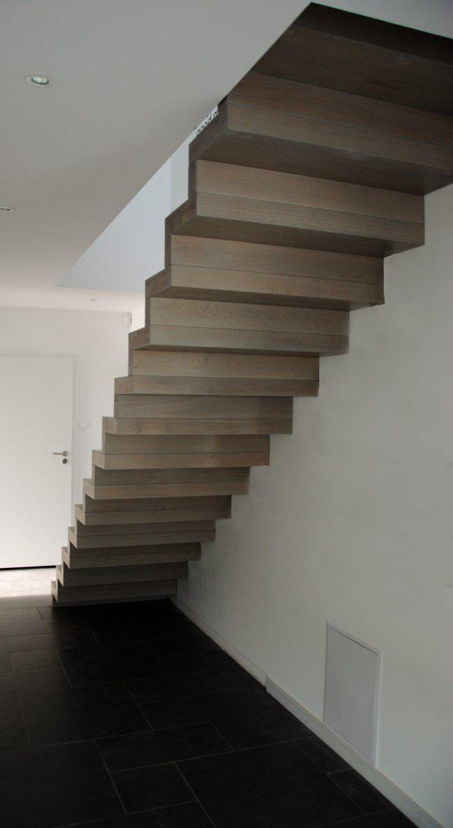 schody dębowe Wrocław szare
